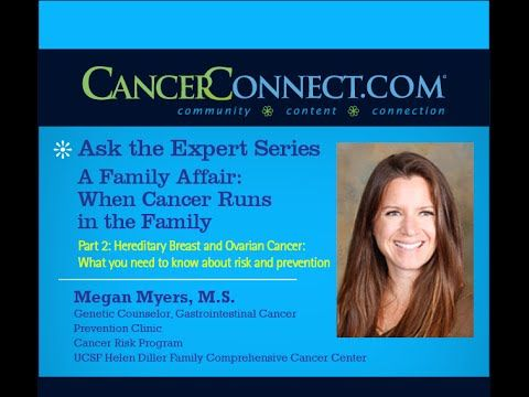 Hereditary Breast and Ovarian Cancer: What you need to know about risk and prevention - WATCH VIDEO HERE -> http://bestcancer.solutions/hereditary-breast-and-ovarian-cancer-what-you-need-to-know-about-risk-and-prevention    *** detecting ovarian cancer early ***   In this informative web chat, Megan Myers discusses hereditary breast and ovarian cancer (HBOC) syndrome risk, diagnosis, and cancer prevention strategies. Megan Myers is a genetic counselor in the Gastrointestinal