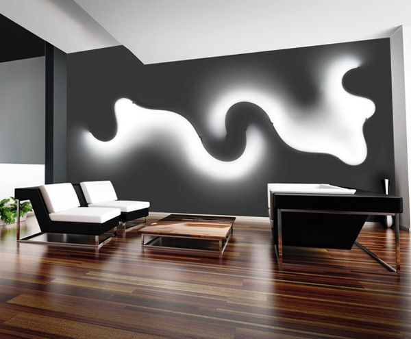 What an interesting accent wall with FormaLa - flexible LED lamp by Cini&Nils. LO