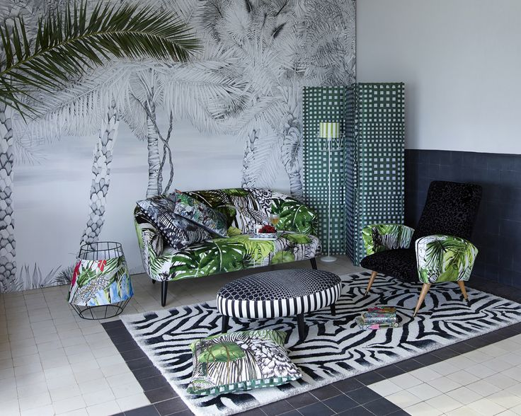 Christian Lacroix 2014 Home Collection The collection of prints, inspired by the French riviera, features elegant animal prints and foliage that can transform a room into a jungle with just a few touches.