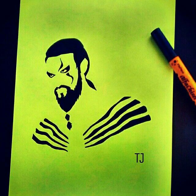 #KhalDrogo from #gameofthrones #quicksketch#myartwork#greenpaper #drawtoinspire#fanart#GoT#tvseries #HBO#hugefan#jasonmomoa
