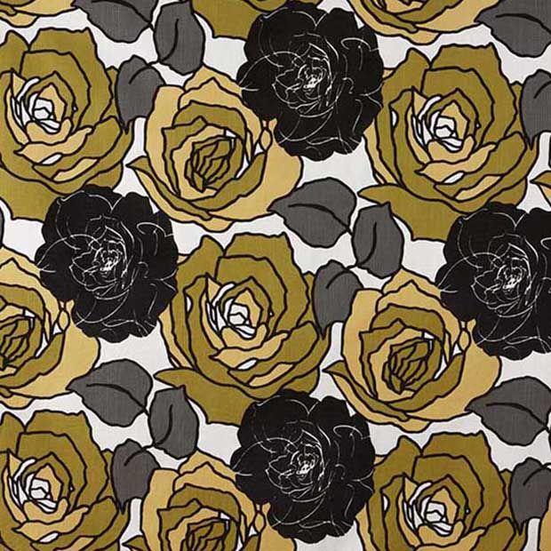 Warwick Fabrics : SECRET GARDEN, Colour CITRON