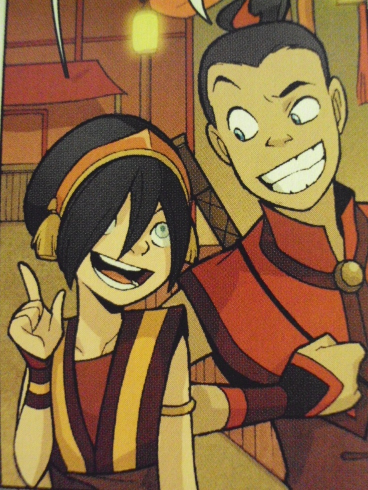 Toph & Sokka . I'm confused right now, I used to ship Sukka but then I shipped Tokka but now I ship both and I'm like, how is that possible?!