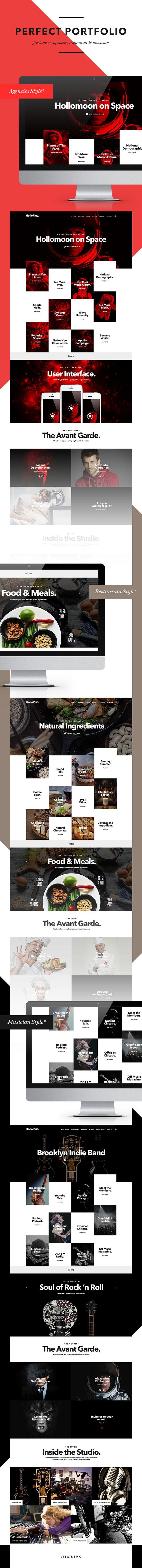 pinterest.com/fra411 #webdesign - Hollo Plus (Update New Style) on Behance