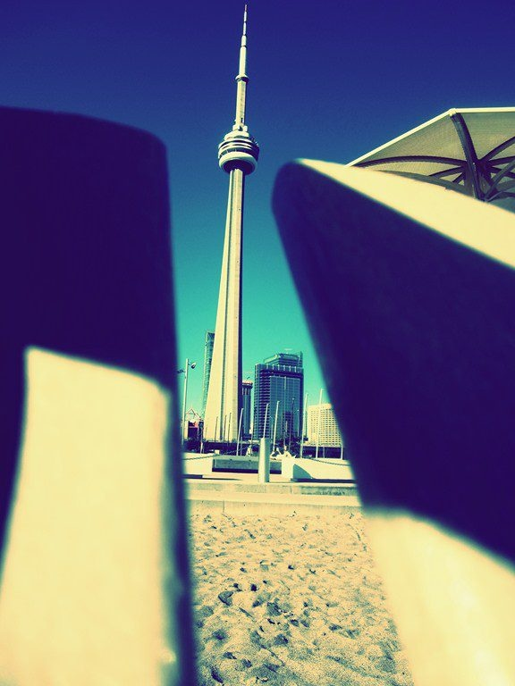 CN Tower in the summer.  Photo by Christoph Siegert.