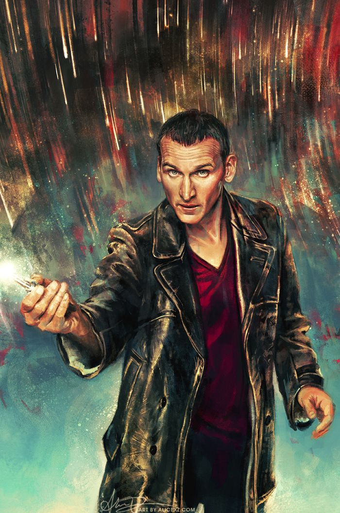 """By Alice X. Zhang:  """"Happy to finally be able to show off the artwork I did for the #1 issue ofDoctor Who: Ninth Doctor(!!!!) - thanks to Titan Comics and the BBC for the opportunity as always! // This is absolutely gorgeous and makes me very happy. ^_^"""