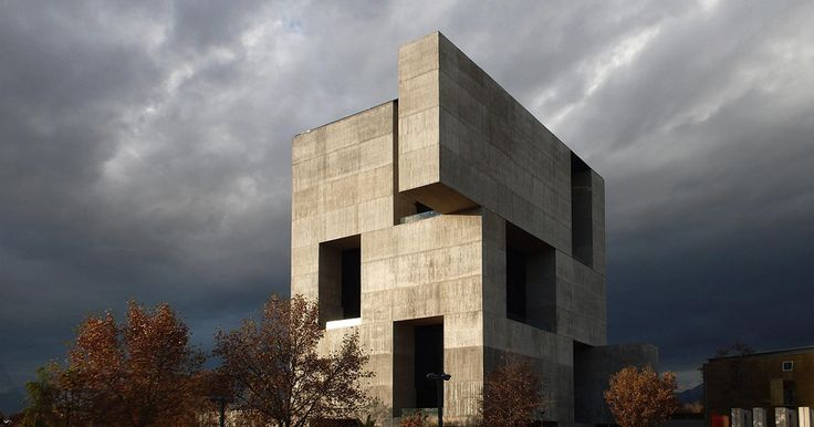 The UC Innovation Center, on the Universidad Catolica de Chile's campus, by architect Alejandro Aravena