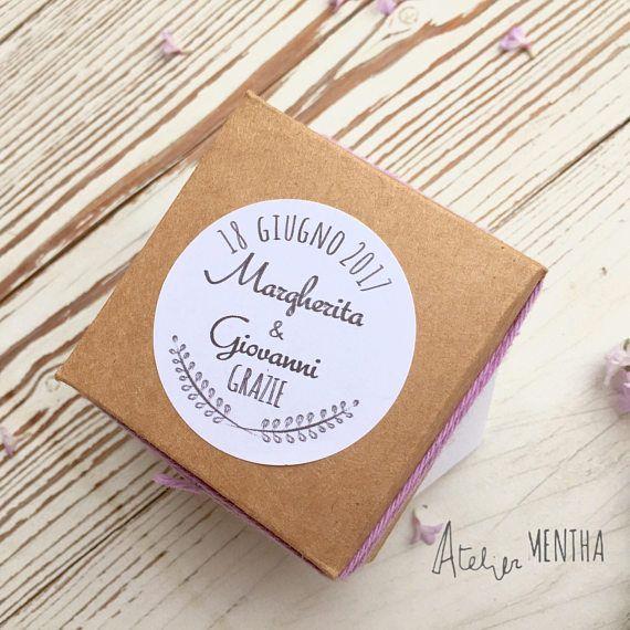 Etichette adesive circolari adatte a matrimonio battesimo