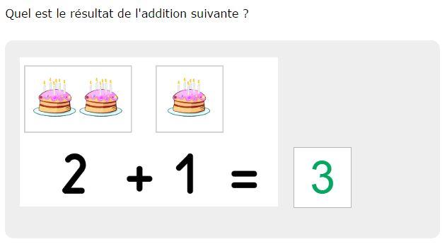 Exercice de Math en ligne Addition avec image jusqu'à 4 ...