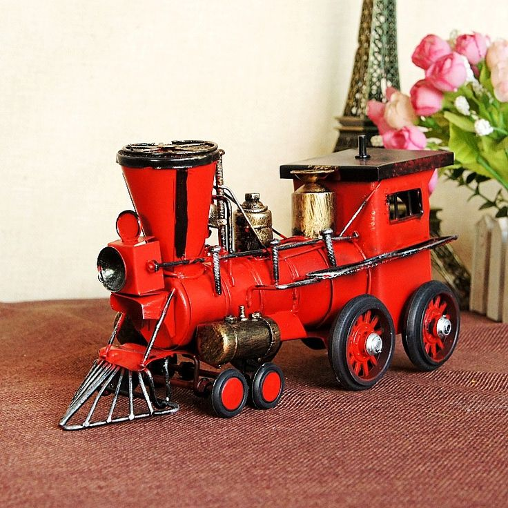 Cheap Vintage belle casting modello di locomotiva a vapore meata giocattolo look retrò decorativo locomotiva treno.  30*10*17 cm, Compro Qualità Metallo artigianato direttamente da fornitori della Cina: 2PCS A Lot !!! Fine Wedding Souvenir Gift , Mini Painted Wooden Circular Engravure Cats Figurine. Home Furnishing Orname
