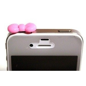 Hello Kitty dust plug for your iPhone headphone jack