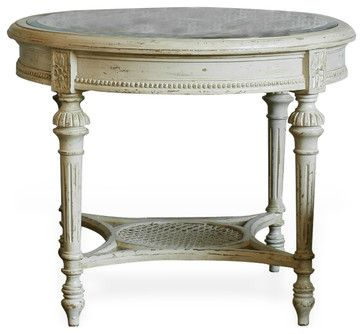 French Country Caned End Table   Traditional   Side Tables And Accent Tables    Kathy Kuo