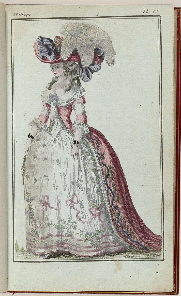 Cabinet des Modes ou les Modes Nouvelles, 15 Janvier 1786, 5e cahier, pl. I, anoniem, Buisson, 1786