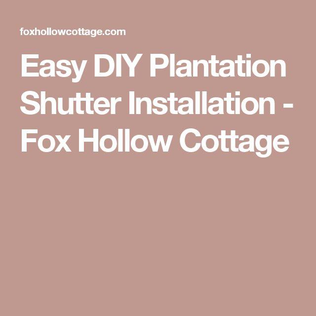 17 Best Ideas About Plantation Shutter On Pinterest