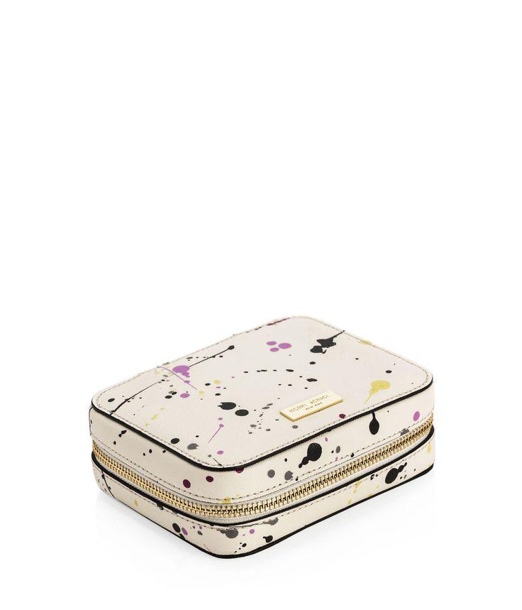 <p>Henri Bendel The West 57th Splatter Travel Jewelry Box <p>