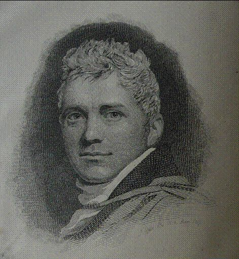 Portrait of Edward Daniel Clarke who went on the Grand Tour with Lord Berwick. From William Otter, 'The life and remains of Edward Daniel Clarke, LL.D., Professor of Mineralogy in the University of Cambridge', London, 1824.