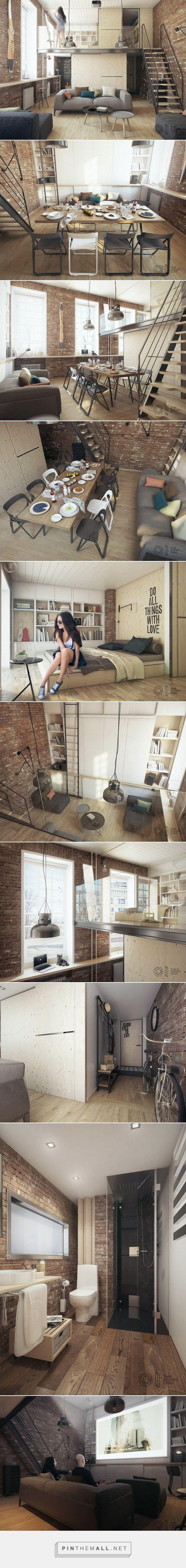 Un pequeño loft de 35 metros cuadrados - Decoracion - EstiloyDeco - created via https://pinthemall.net