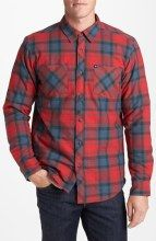 Quiksilver 'Meet On' Plaid Cotton Flannel Shirt gifters.com flannel shirts for men