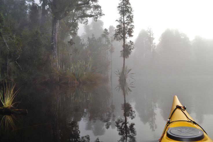 Misty morning paddles lately, Franz Josef, NZ