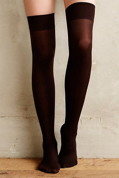 opaque thigh high tights #anthrofave