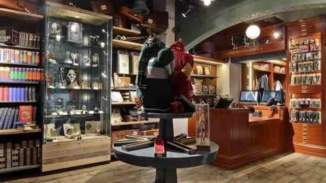 Step inside this magical shop, designed to look like Ollivander's wand shop from the Harry Potter books, to buy all the Harry Potter merchandise a fan could want.