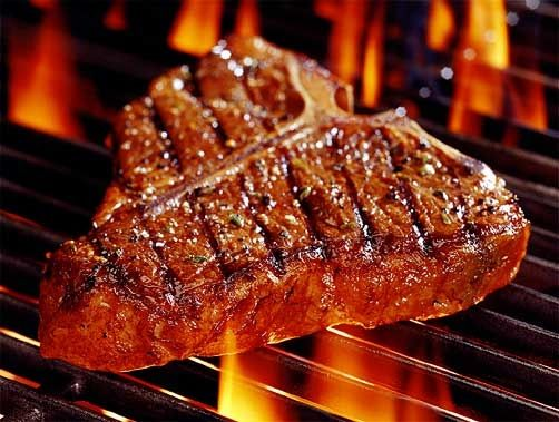 A Big Steak for the Father's Day Braai _ The bigger the better and I would go for thick- sliced T-Bone Steaks with a Garlic butter sauce.