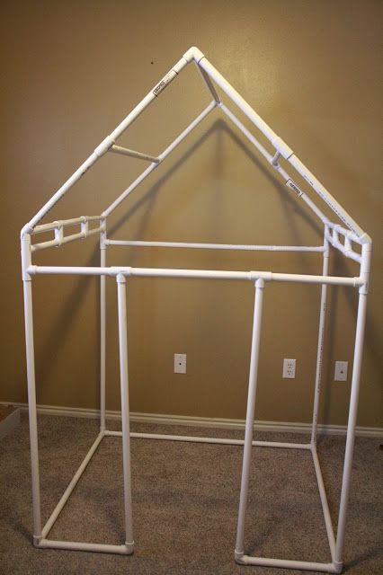 Todd kristy pvc frame playhouse for my baby girl for Pvc playhouse kit