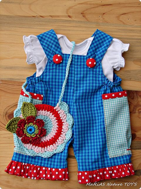 Overalls pattern CAROcreated by ac.maria, via Flickr -love the color combo