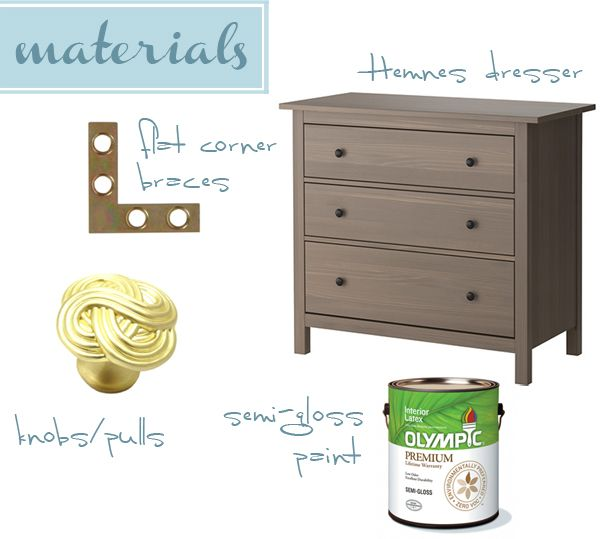 Ikea Ekby Alex Shelf With Drawer ~ Ikea Hack Hemnes Dresser  Painting Refinishing Reupholstering  Pin