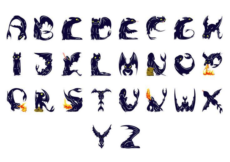 Toothless - dragon alphabet