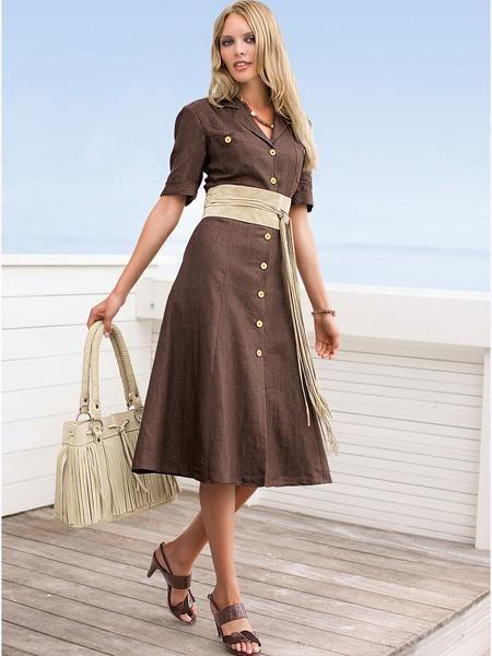 Платье сафари на пуговицах