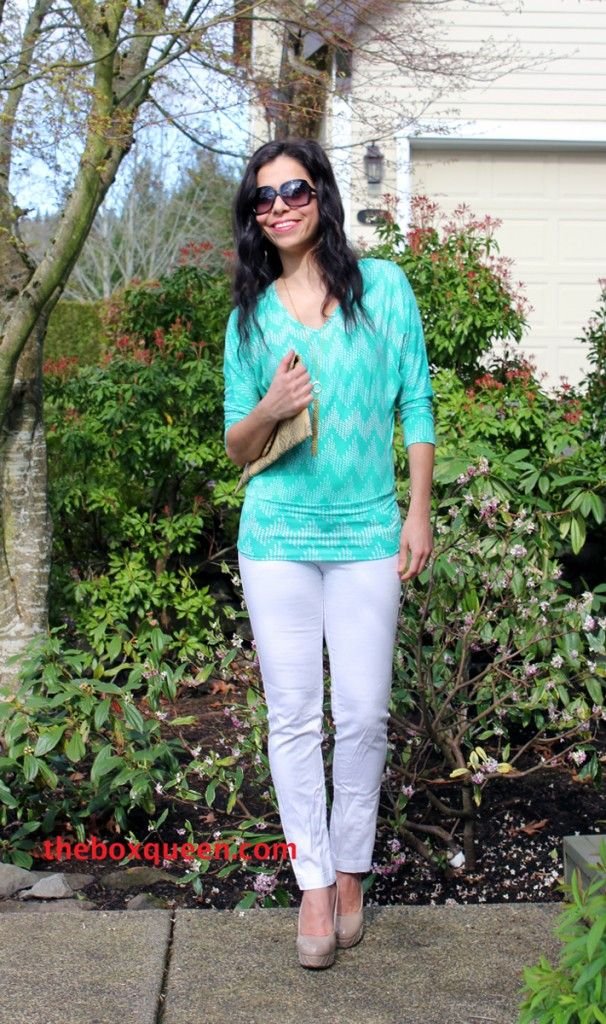 Love everything about this blouse from this reviewer's Stitch Fix Review April 2014 | The Box Queen