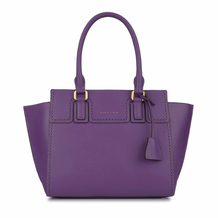 Trapeze Work Tote - Purple - Tote - Bags | CHARLES & KEITH