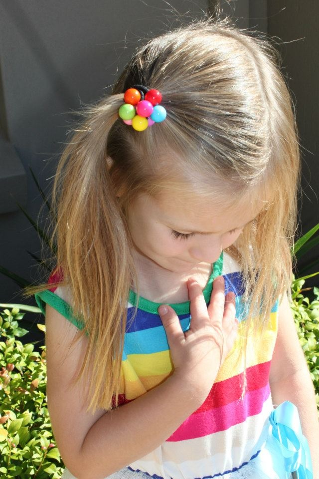Rainbow Hair Bobble  available at www.madisongracedesigns.com.au