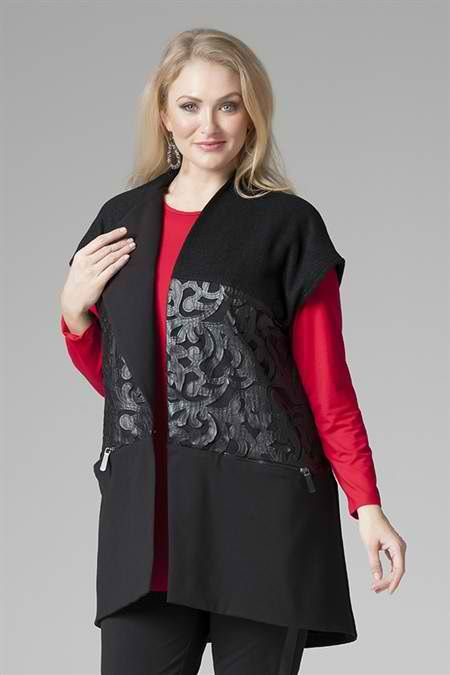 High quality wool vest, making a fantastic look finished with in seam pocket zips for a modern touch and an extended shoulder panel. Perfect combination of #classy and #elegance! #curvyfashion #wintersale #curvy at 30% 0ff http://bit.ly/woolleathervest
