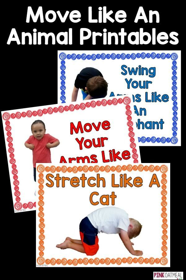 Animal moves are prefect for getting the kids moving.  These are perfect for…