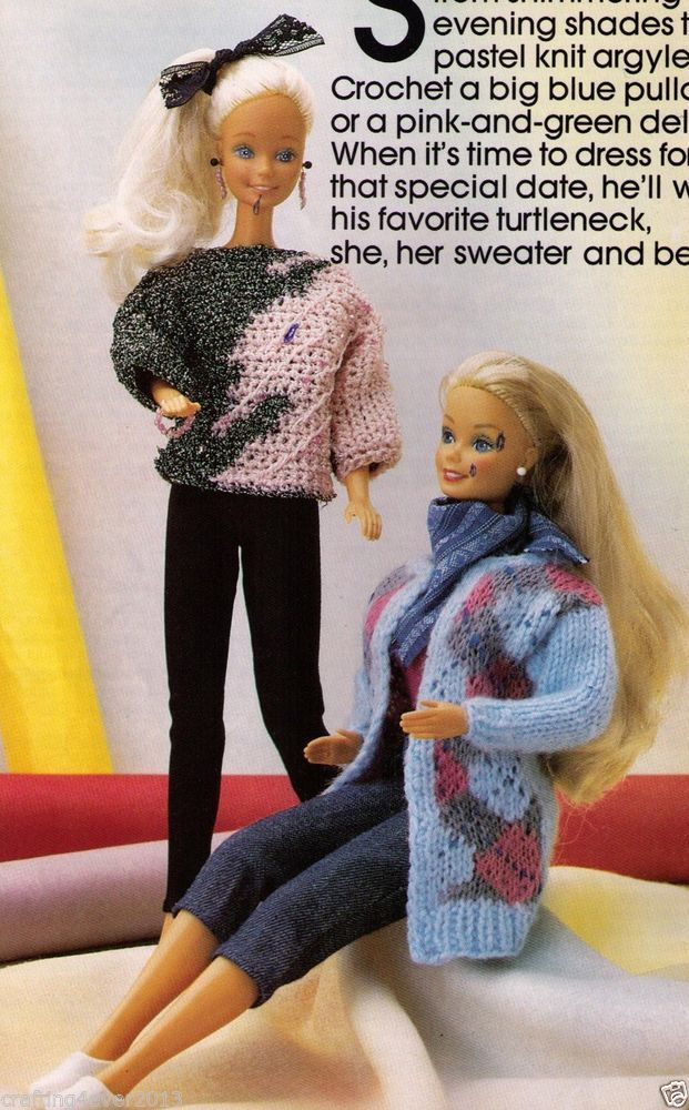 Barbie/monster high dolls evening & fairisle jumpers x2 ...