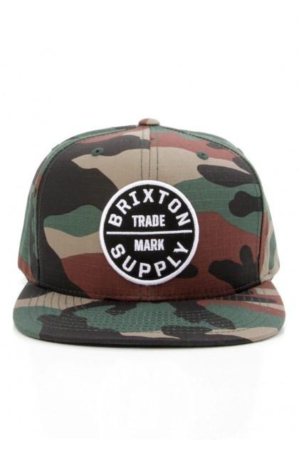 Brixton Clothing Oath III Snapback Hat - Camo $28.00