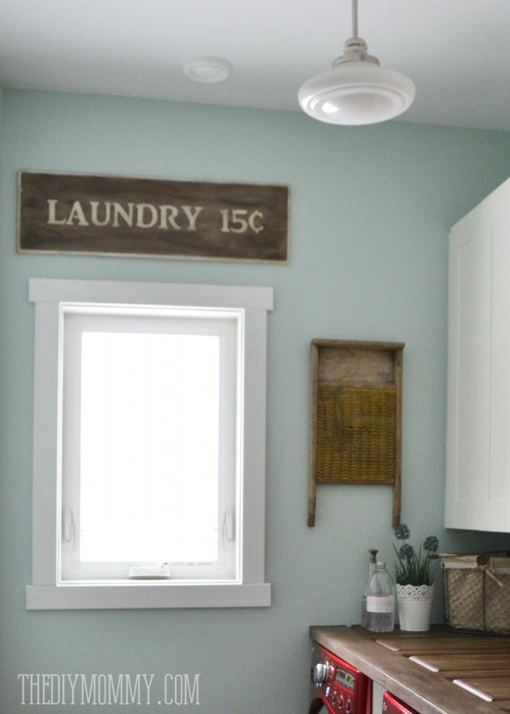 make a laundry room counter top from a door such a unique countertop