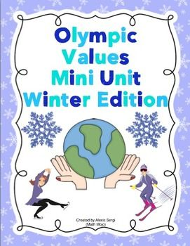 OLYMPIC VALUES MINI UNIT (WINTER EDITION) - TeachersPayTeachers.com