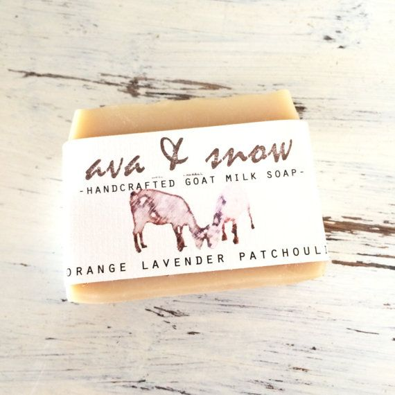 Handmade Orange Patchouli Lavender Goat's Milk Soap! This handcrafted soap is made with 100% therapeutic grade essential oils of orange, patchouli and lavender. Ava And Snow goat milk soap is made by hand in small batches. #ad