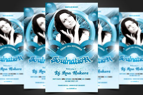 Soulnation Flyer Template by meisuseno on @creativemarket