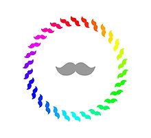 Rainbow Moustache Ring by silverjade