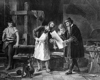 Johann Gutenberg and Invention of the Printing Press: Gutenberg is acknowledged to be the father of moveable type.