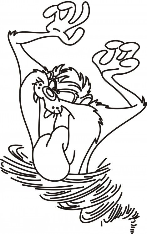 free coloring pages of taz - photo#22