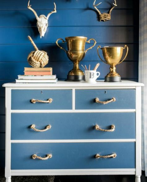 Nautical Dresser Makeover Ideas: http://www.completely-coastal.com/2016/01/dresseer-makeover-coastal-beach-nautical.html
