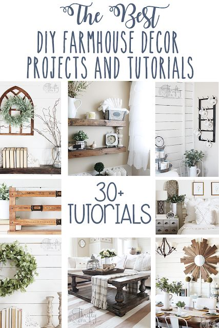 The best diy farmhouse decor projects for you home! Farmhouse decor and decorati…