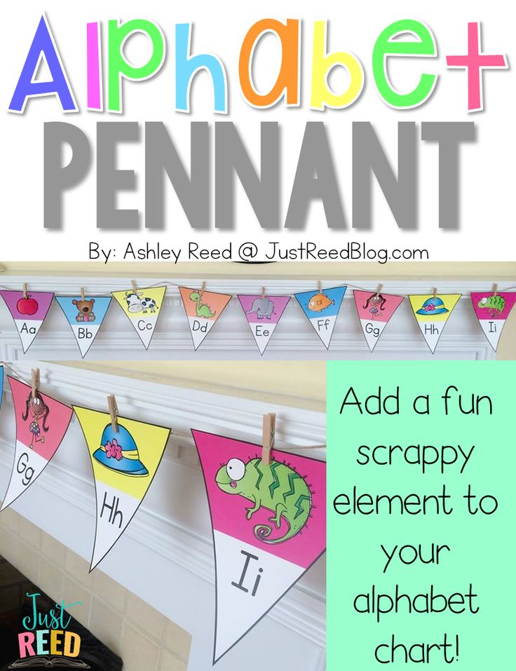 This fun pennant banner is the perfect whimsical alphabet line for your classroom!