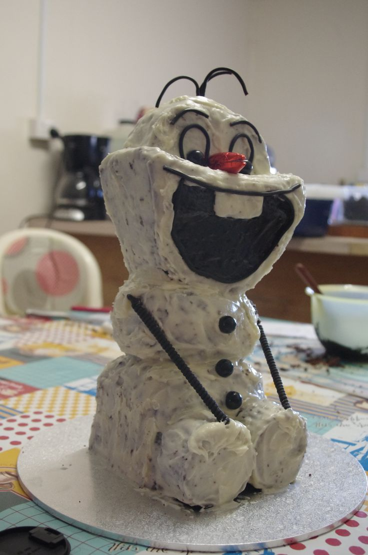 Olaf (From Frozen) Youngest's 3rd Birthday 2014
