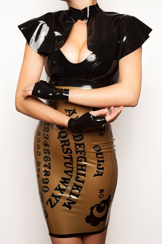 Ouija Board Latex Dress by VitalVeinFashion