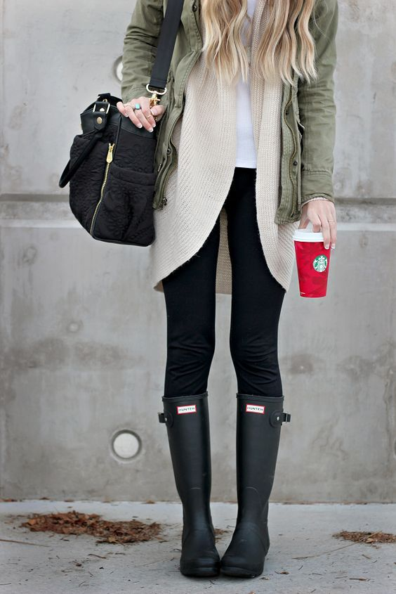 13 Looks con botas Hunter que te enamorarán a primera vista